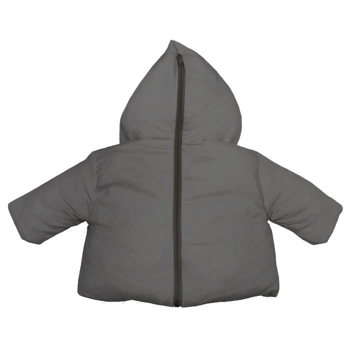 Album di Famiglia Baby Lino Coat With Zip Back Anthracite Grey