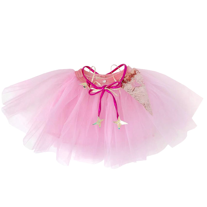 Atsuyo Et Akiko Baby And Child Miss Eye Tutu With Pink Silk And Gold Details Pink