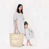Atsuyo et Akiko Womens Linen Terre Earth Dress White and Navy Check - Advice from a Caterpillar