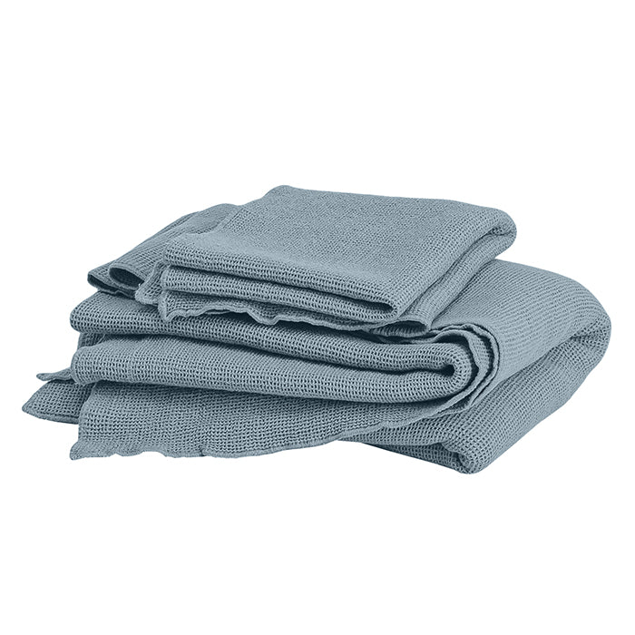 Autumn Paris Small Honeycomb Towel Kit Sea Blue