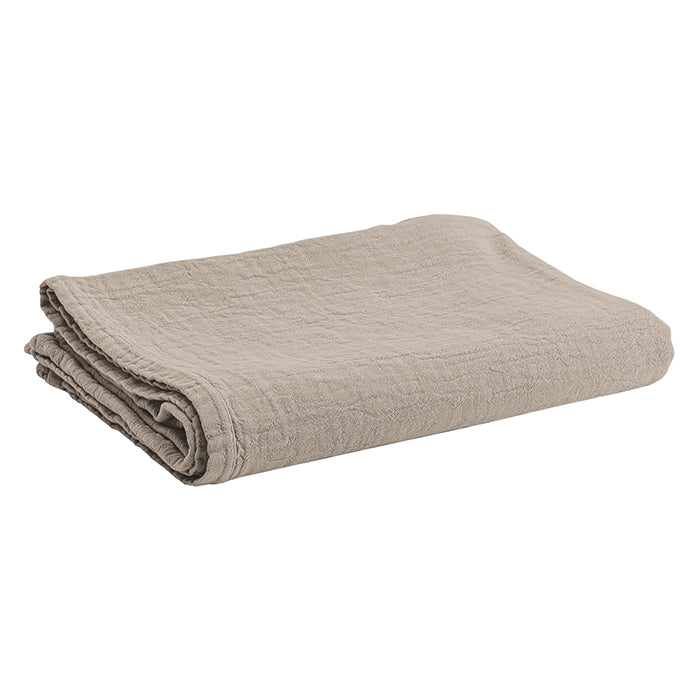 Autumn Paris Nappe Punto Tablecloth Earth Taupe