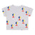 Bobo Choses Baby T-shirt With All Over Geometric Print Grey