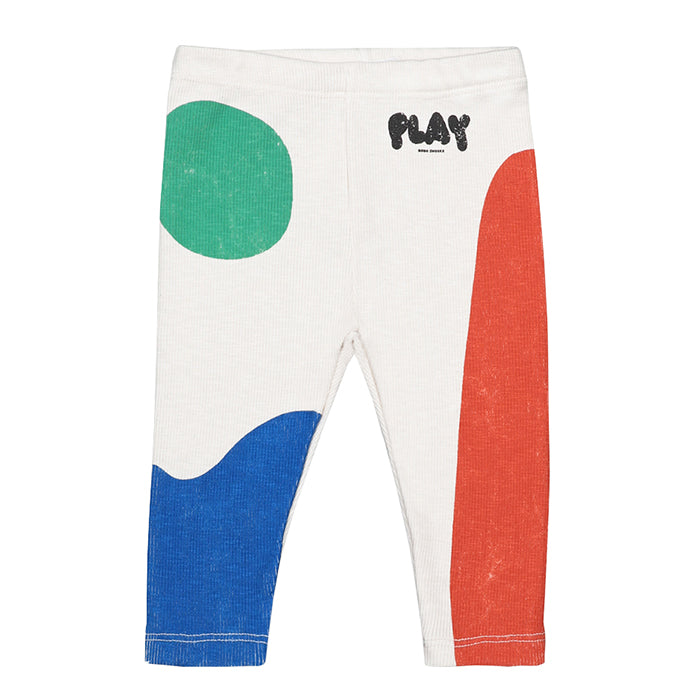 Bobo Choses Baby Leggings With Play Landscape Print Cream