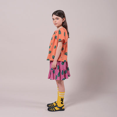 Bobo Choses Child Blouse With All Over Tomato Print Orange