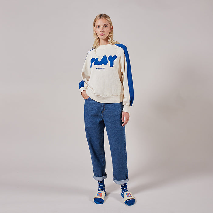 Bobo Choses Unisex Sweatshirt With Play Print Blue