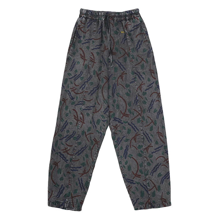 Bobo Choses Unisex Pants With Brush Stroke Print Grey