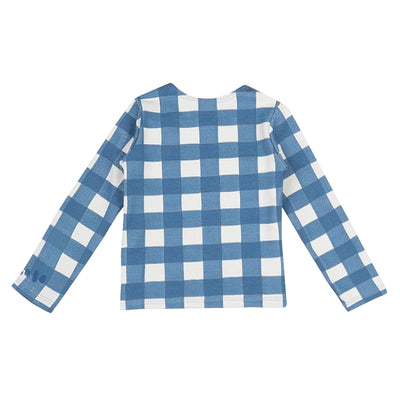 Bobo Choses Baby Vichy Swim Top Blue Checks