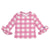 Bobo Choses Baby Vichy Ruffle Swim Top Pink Checks