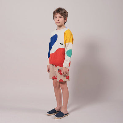 Bobo Choses Child Sweater With Landscape Pattern Multicolour