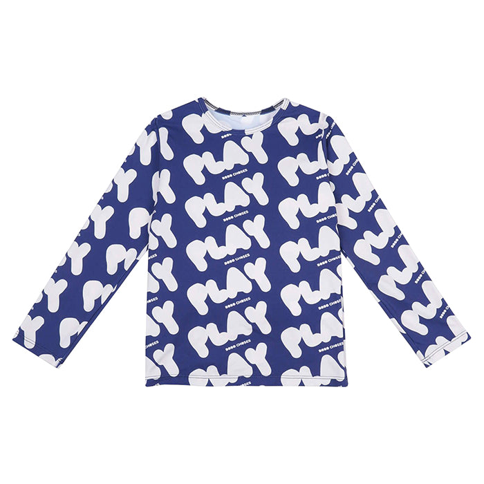 Bobo Choses Child Swim Top With All Over Play Print Blue