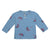 Bobo Choses Baby Henley T-shirt With All Over Umbrella Print Blue
