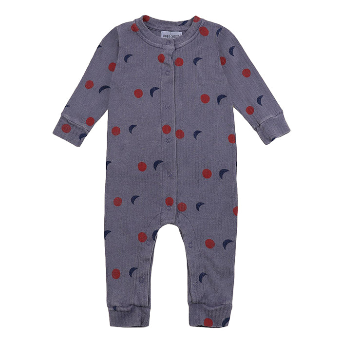 Bobo Choses Baby Jumpsuit With All Over Night Print Purple
