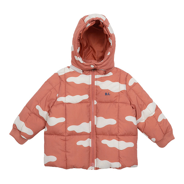 Bobo Choses Baby Coat With All Over Clouds Print Brown