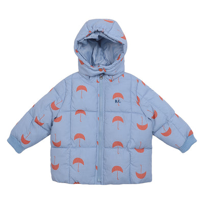 Bobo Choses Baby Coat With All Over Umbrella Print Blue