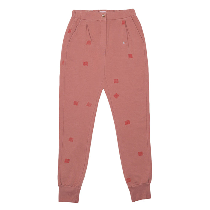 Bobo Choses Woman Sweatpants With Square Print Brown