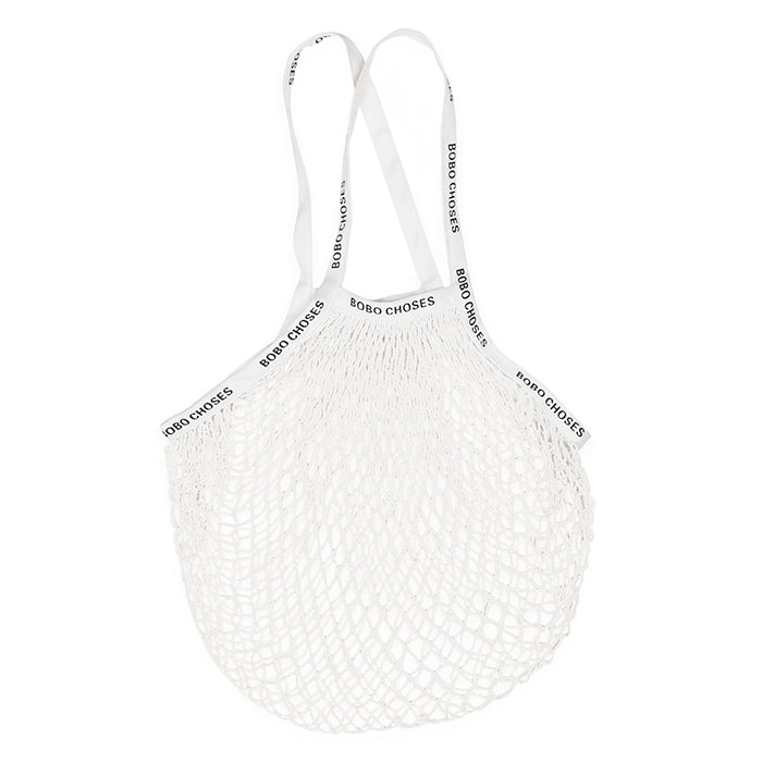 Bobo Choses Woman Mesh Grocery Bag White