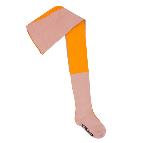 Bobo Choses Tights Bicolour Pink And Yellow