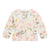 Bonpoint Baby Cardigan Cream Floral Print