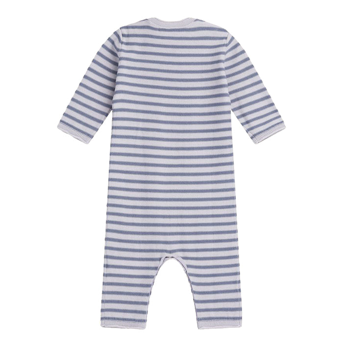 Bonpoint Baby Pyjamas Blue Stripes