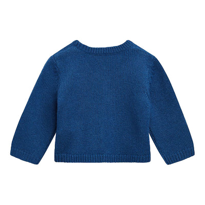Bonpoint Baby Cashmere Cardigan Royal Blue
