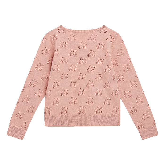 Bonpoint Child Cherry Cardigan Pink