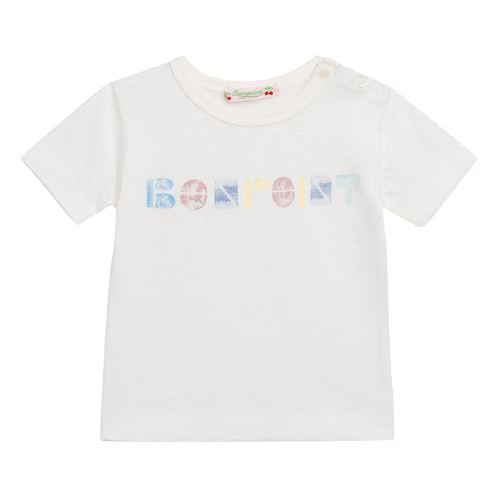 Bonpoint Baby T-shirt White With Bonpoint Print