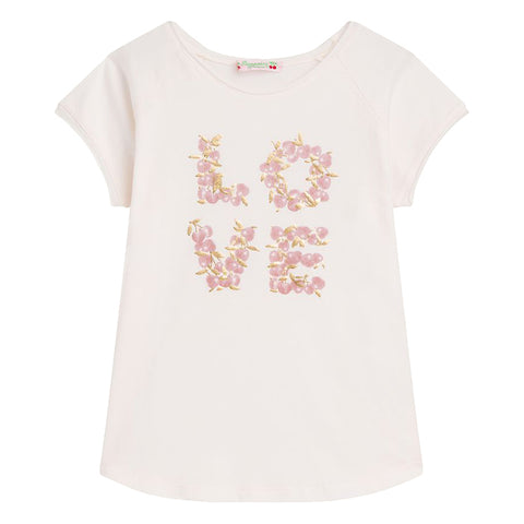 Bonpoint Child Love T-shirt Cream