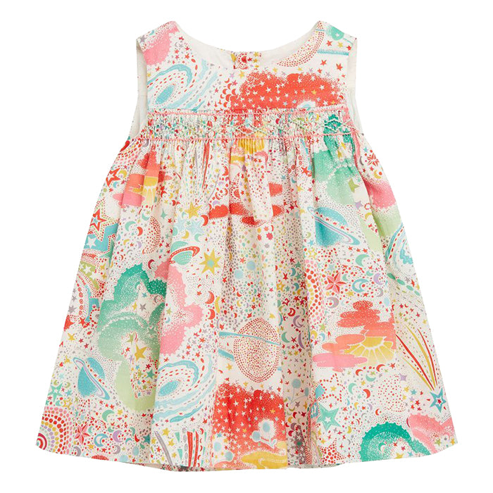 Bonpoint Baby Clothi Dress Multicolour Planets Print