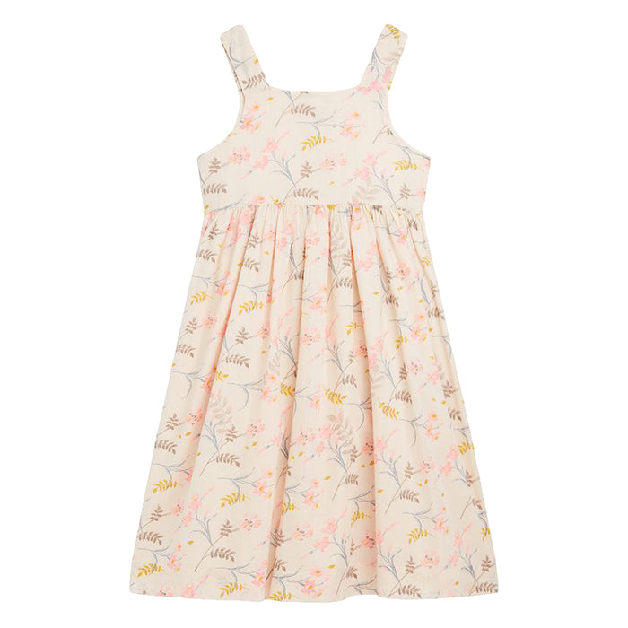 Bonpoint Child Laly Dress Cream Floral Print
