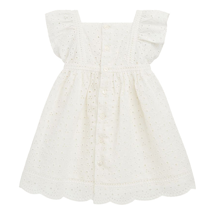 Bonpoint Baby Leonie Dress White Eyelet Lace