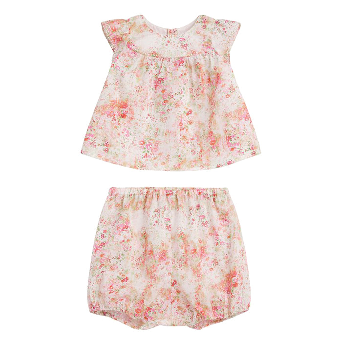 Bonpoint Baby Lilou Two Piece Set Pink Liberty Print