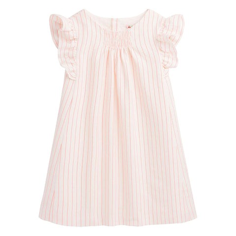 Bonpoint Child Nilunea Dress Orange Stripes