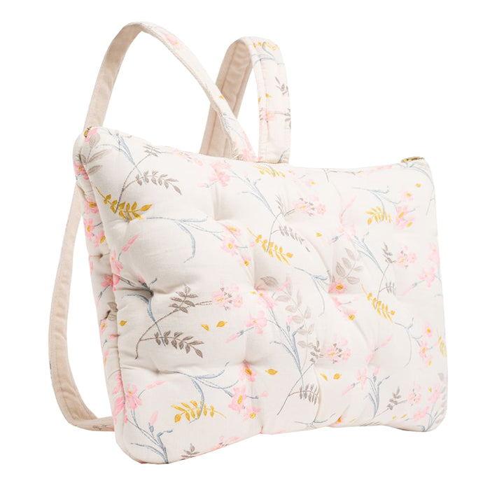 Bonpoint Pillow Knapsack Cream Floral Print