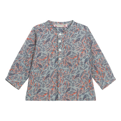 Bonpoint Baby Polisson Shirt Grey Wild West Print