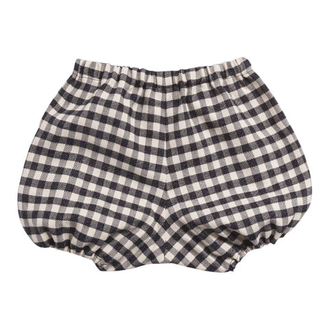 Bonpoint Baby Doumi Bloomers Grey Marl Checks