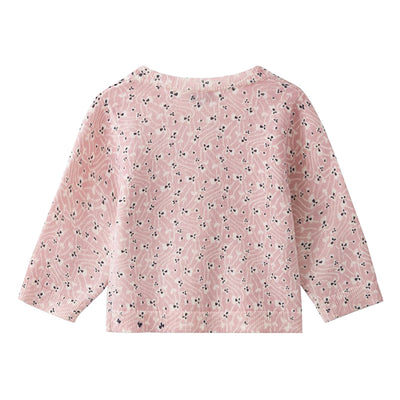 Bonpoint Baby Cardigan With Pansy Print Pink