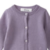 Bonpoint Baby Merino Cardigan Purple