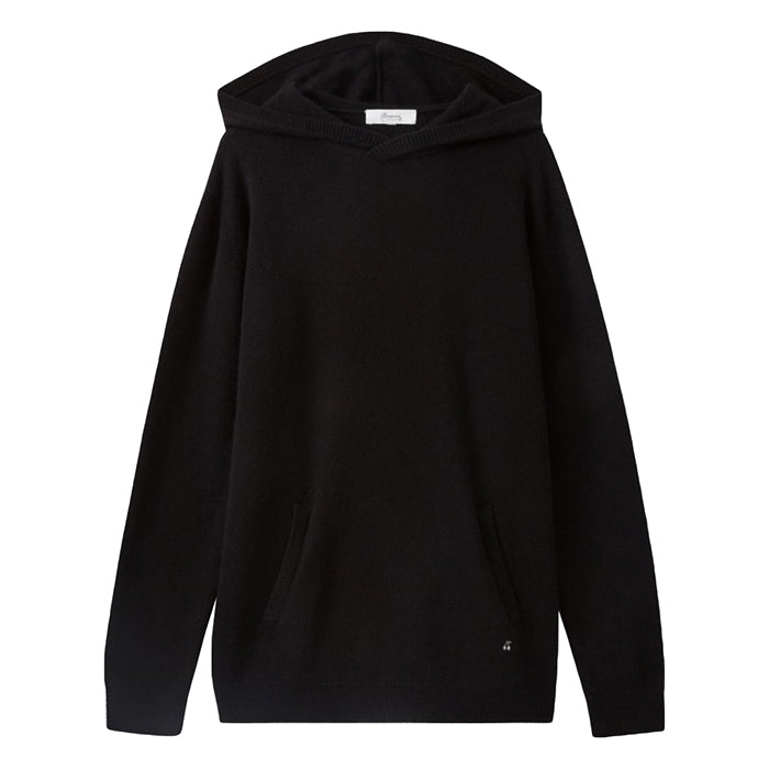 Bonpoint Woman Cashmere Sweater With Hood Black