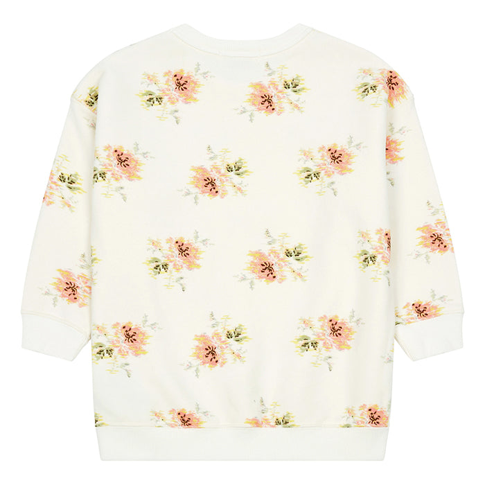 Bonpoint Child Sweatshirt With Floral Screenprint White