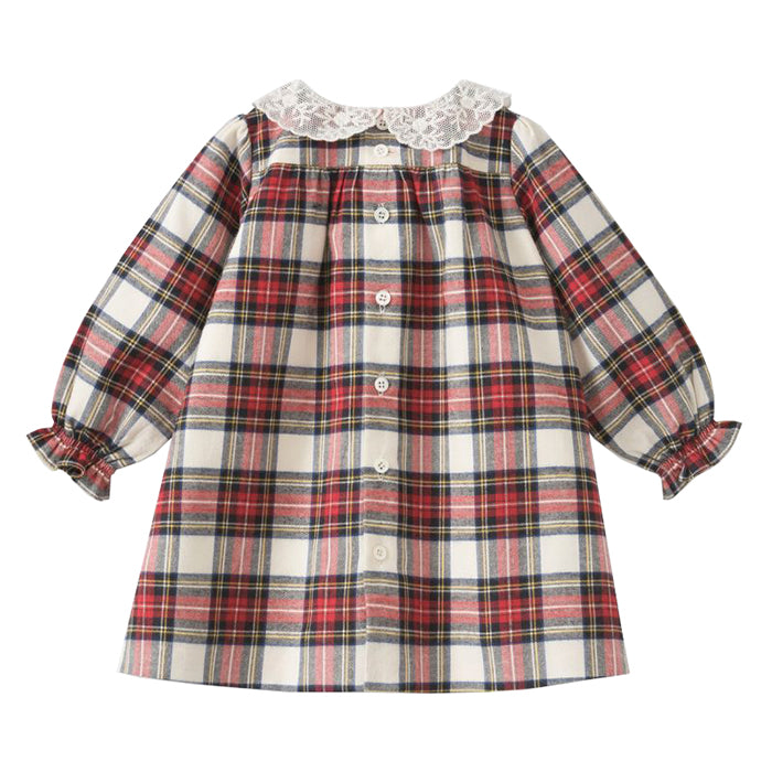 Bonpoint Baby Magnolia Dress Red Plaid