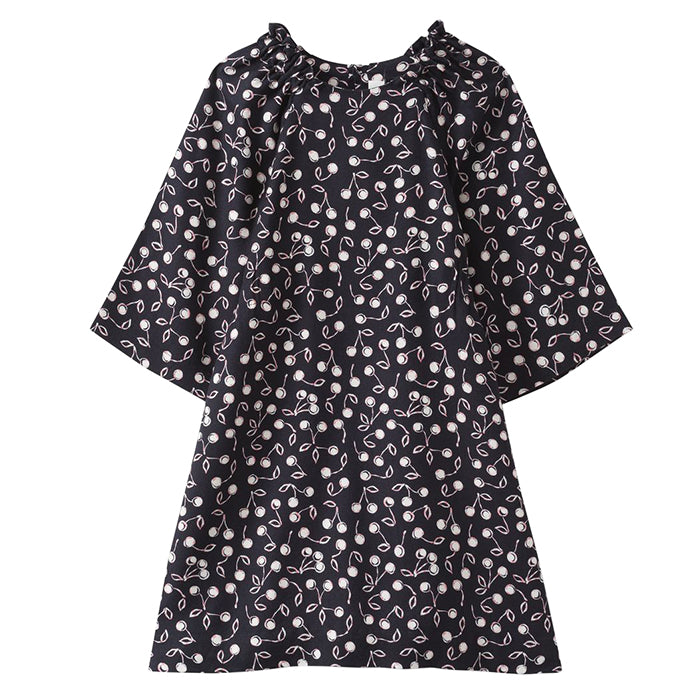 Bonpoint Child Purple Dress Navy Blue