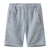 Bonpoint Child Samy Bermuda Shorts Grey Blue Stripes