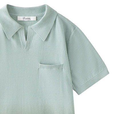 Bonpoint Child Polo T-shirt Celadon Green