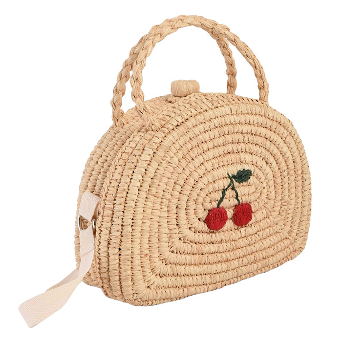 Bonpoint Child Crochet Raffia Suitcase Natural