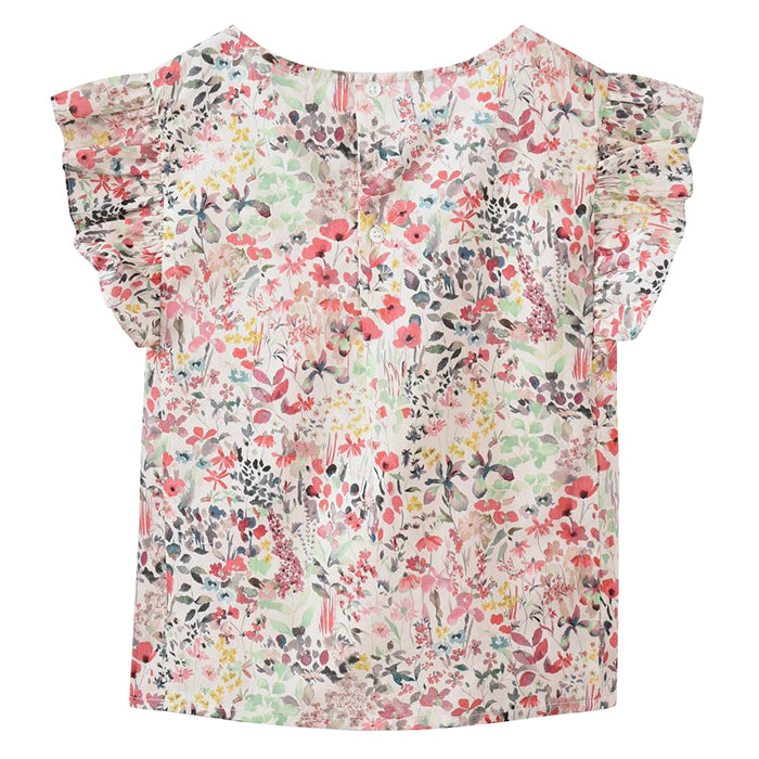 Bonpoint Child Nilune Blouse Pink Floral Print