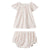 Bonpoint Baby Two Piece Set Cream With Cherry Print