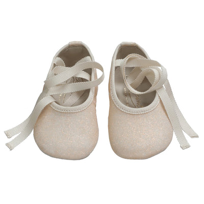 Bonpoint Baby Ballet Shoe Sparkly Rose Pink