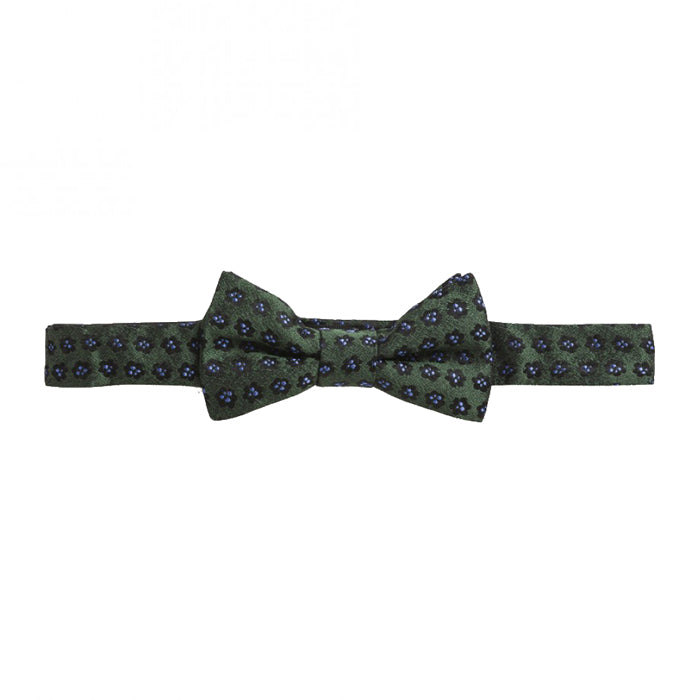 Bonpoint Child Bow Tie Tobacco and Flowers