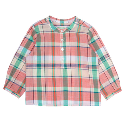 Bonpoint Baby Polisson Tunique Ec Multicolour - Polisson Shirt Multi Coloured Tartan - Advice from a Caterpillar