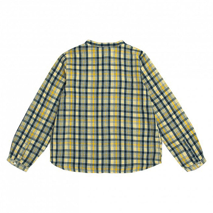 Bonpoint Child Artiste Shirt Yellow And Blue Plaid